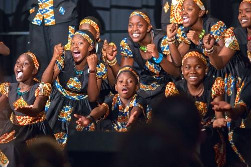 Imani choir performing